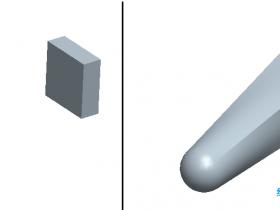 Proe如何将截面混合到曲面?