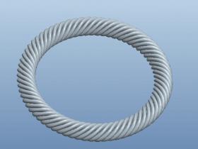 Proe可变截面扫描练习(三)螺旋环