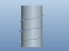 Proe如何使零件跟随曲线进行阵列?