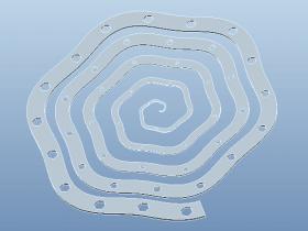 Proe曲线驱动的尺寸阵列