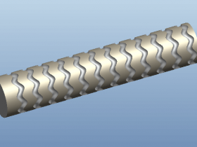 Proe如何创建波浪型滚花条纹?