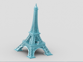Proe埃菲尔铁塔模型下载