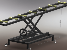 Solidworks剪叉式升降机模型下载