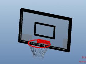 Proe篮球网模型下载