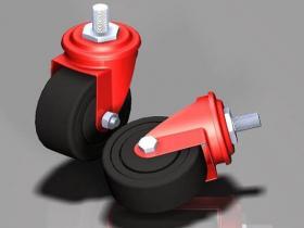 Proe脚轮模型下载
