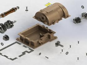 Solidworks齿轮箱模型下载