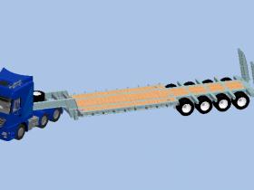 Solidworks低平板挂车模型下载