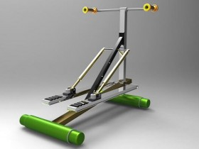 Proe跑步机模型下载