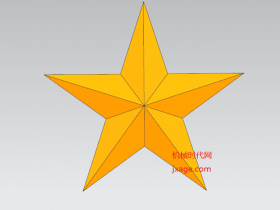 NX建模(24):NX如何一步画出立体五角星?