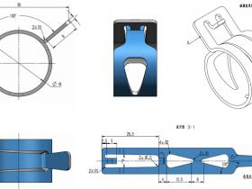 UG钣金(9):钣金建模实例之弹簧卡箍