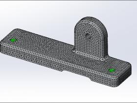 SolidWorks Simulation 有限元分析实例练习(7):支架受力分析