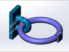 SolidWorks Simulation 有限元分析实例练习(10):带接触的装配体分析