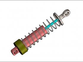 SolidWorks Simulation 有限元分析实例练习(14):带有弹簧接头的分析