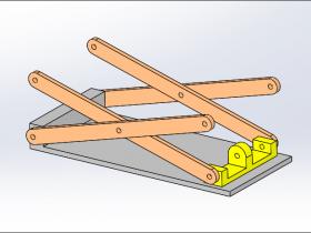 SolidWorks Simulation 有限元分析实例练习(15):升降架分析
