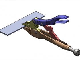 SolidWorks Simulation 有限元分析实例练习(17):手钳受力分析