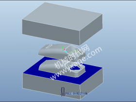 Proe拆模设计实例练习(3):含靠破孔的拆模