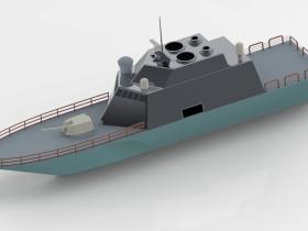 Creo战舰模型下载