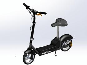 Solidworks电动代步车模型下载