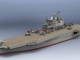 Solidworks航空母舰模型下载