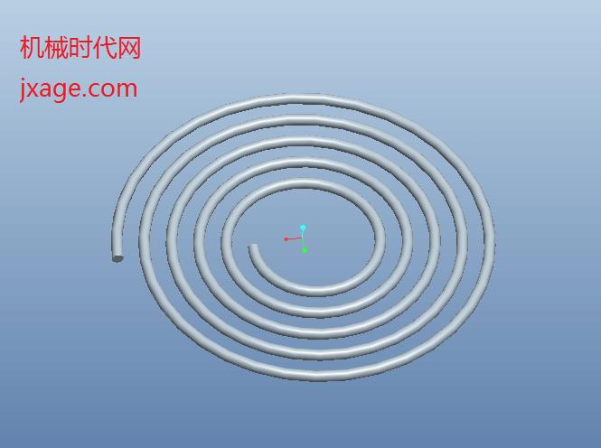 Proe创建平面涡卷弹簧