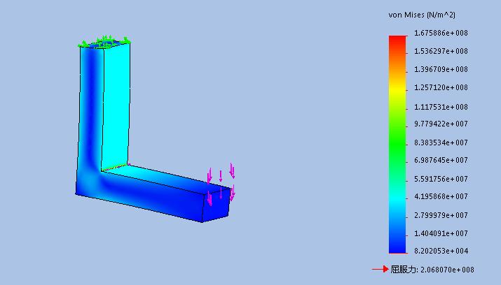 SolidWorks Simulation 有限元分析实例练习(3):局部网格控制