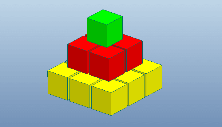 Proe如何使用表格阵列创建俄罗斯方块?