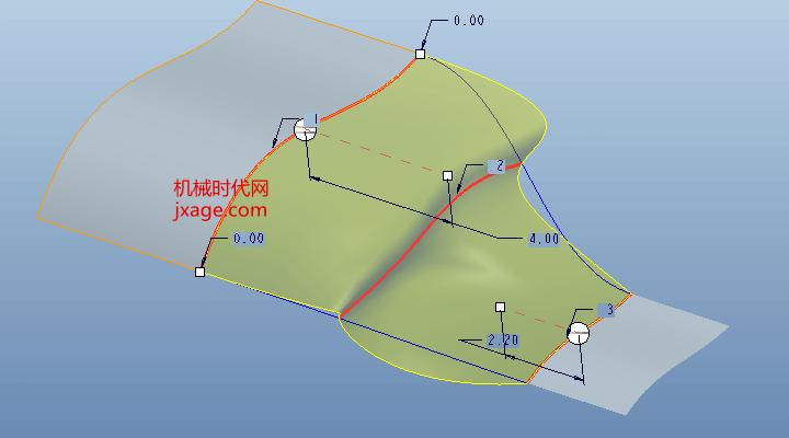 Proe边界混合如何添加侧曲线影响?