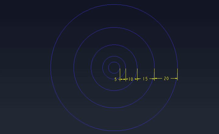 Proe如何进行渐变阵列?以一个圆为例