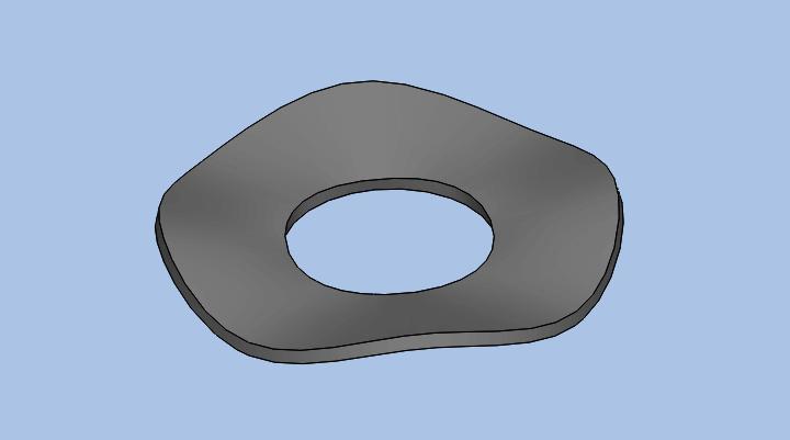 Solidworks通过扫描创建蝶形垫圈的方法