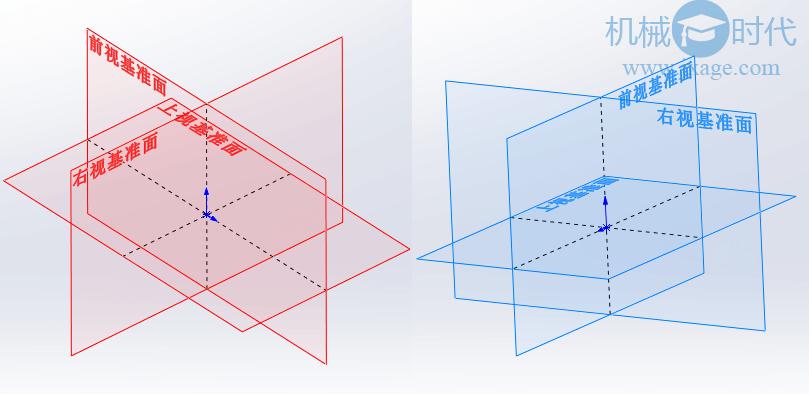 SolidWorks如何设置基准面正反面的颜色?