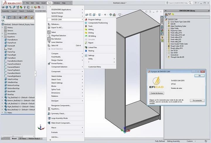 SolidWorks木工插件EFICAD Swood 2015下载及安装教程