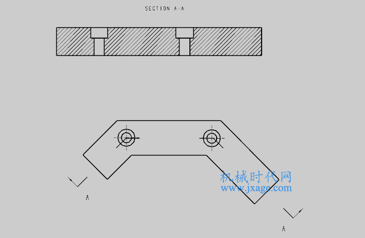 NX制图(9):工程图模块之创建展开的点和角度剖视图