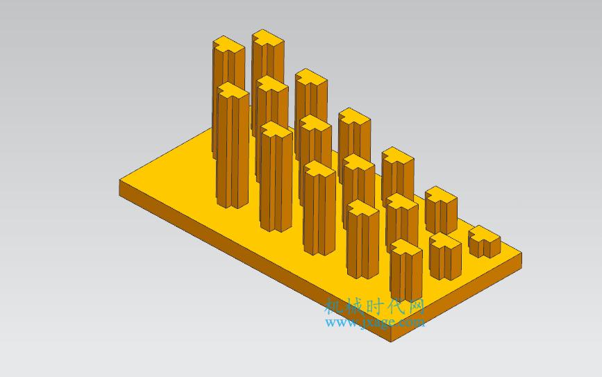 NX建模(21):NX阵列增量的用法