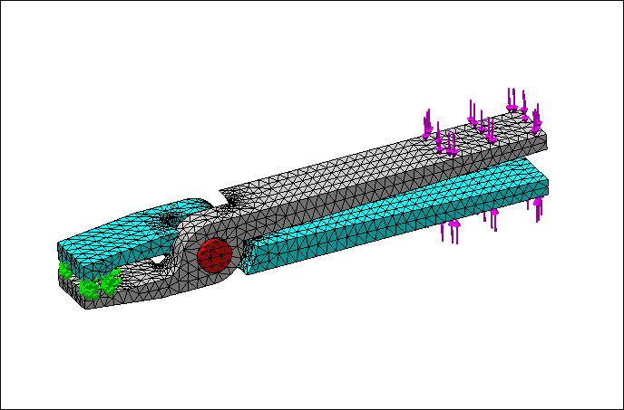 SolidWorks Simulation 有限元分析实例练习(12):虎钳受力分析(2)
