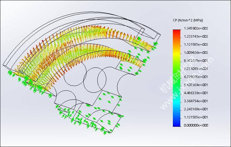SolidWorks Simulation 有限元分析实例练习(13):对称装配体