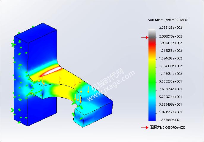 SolidWorks Simulation 有限元分析实例练习(21):自适应网格