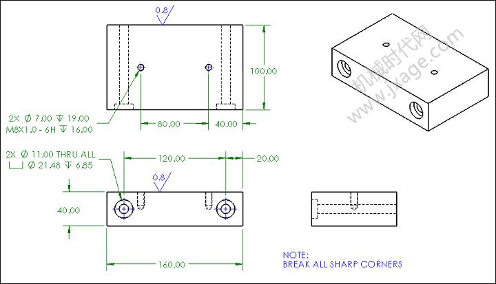 SolidWorks工程图如何使用图层将尺寸和注释显示不同的颜色和线型?